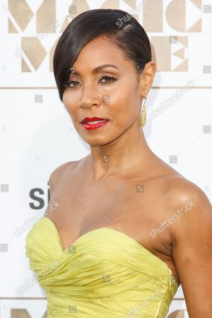 """Jada Pinkett Smith arrives at the Los Angeles premiere of """"Magic Mike XXL."""" Smith, Tina Fey, Angela Bassett, Cynthia Nixon and Kathie Lee Gifford are being recognized for their media achievements by the Alliance for Women in Media Foundation at its 41st annual Gracie Awards in May"""