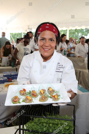 Pompano's Chef Lucero Martinez seen at the James Beard Foundation's Chefs & Champagne fundraiser honoring John Besh, at Wolffer Estate Vineyard in Sagaponack, N.Y