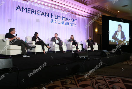 Gary Foster, and from left, Dana Archer, Chris Day, Jill Jones and Marian Koltai-Levine attend the 2014 American Film Market (AFM) Marketing Conference at the Fairmont Hotel on Monday, Nov. 10, in Santa Monica, Calif