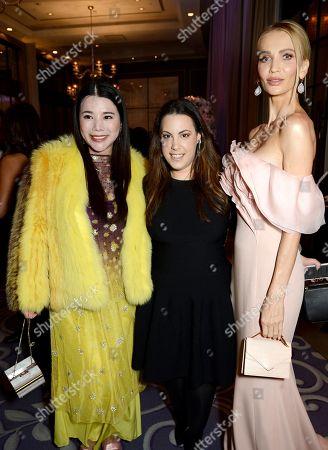 Wendy Yu, Mary Katrantzou and Tatiana Korsakova