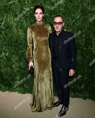 Hilary Rhoda, Gilles Mendel. Hilary Rhoda and Gilles Mendel attend the 14th Annual CFDA Vogue Fashion Fund Gala at Weylin, in New York