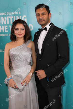 Stock Image of Armeena Khan and Fesl Khan