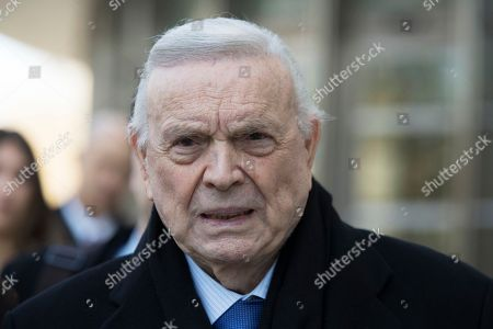 Jose Maria Marin leaves federal court in the Brooklyn borough of New York, . Marin, of Brazil, is one of three former South American soccer officials on trial in a U.S. case highlighting widespread corruption in the sport's governing body