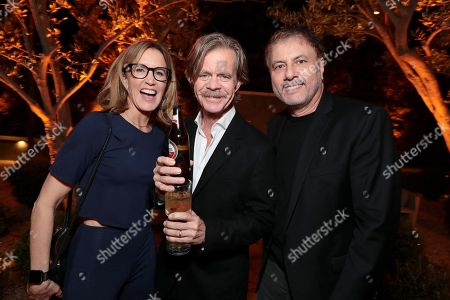 Felicity Huffman, William H. Macy, and Gary Levine, President pr Programming, Showtime Networks at 'SHOWTIME Gives Thanks' Holiday Event at the home of David Nevins, President and CEO, Showtime Networks on November 16, 2017