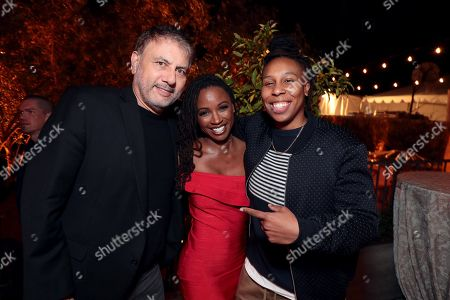 Gary Levine, President of Programming, Showtime Networks, Shanola Hampton, and Lena Waithe at 'SHOWTIME Gives Thanks' Holiday Event at the home of David Nevins, President and CEO, Showtime Networks on November 16, 2017