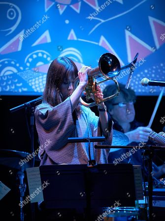 Editorial picture of Yazz Ahmed in concert at Kings Place, EFG London Jazz Festival, London, UK - 17 Nov 2017