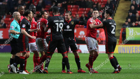 Editorial image of Charlton Athletic v MK Dons, Sky Bet EFL League 1, Football, The Valley, London, Greater London, United Kingdom - 18 Nov 2017