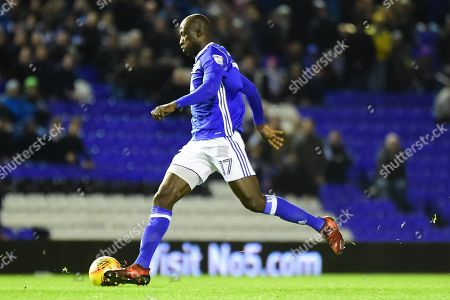 Birmingham City midfielder Cheikh N'Doye (17) sprints forward with the ball during the EFL Sky Bet Championship match between Birmingham City and Nottingham Forest at St Andrews, Birmingham