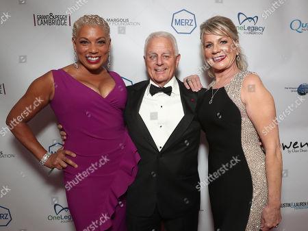 Stock Image of Rolonda Watts, Lifetime Achievement Orchid Award Winner Dr. Robert Blackman and Boardmember Kandra King