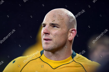 Stock Photo of Stephen Moore of Australia looks on after the match