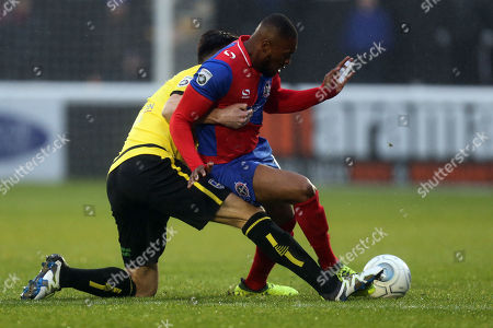 Editorial image of Dagenham & Redbridge vs Guiseley, Vanarama National League, Football, the Chigwell Construction Stadium, London, Greater London, United Kingdom - 18 Nov 2017