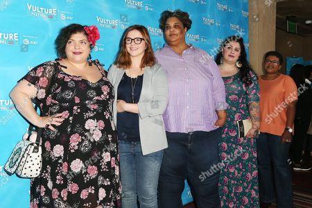 Stock Photo of Randa Jarrar, Amber Tamblyn, Roxane Gay, Rachel McKibbens, Attica Locke