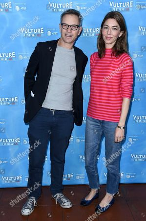 """Adam Moss, Sofia Coppola. Sofia Coppola, right, and Adam Moss attend the 2017 Vulture Festival Los Angeles """"Sofia Coppola & Adam Moss in Conversation"""" at the Hollywood Roosevelt Hotel, in Los Angeles"""