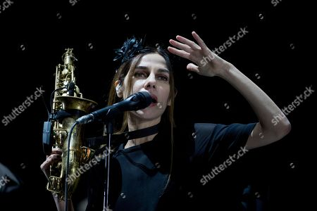 Stock Picture of British singer-songwriter PJ Harvey performs during a concert at the Corona Capital music festival in Mexico City