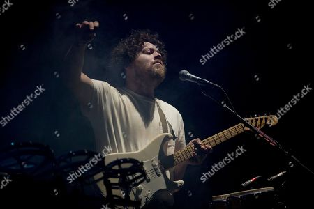 Joseph Mount of the British electronic music group Metronomy performs during the Corona Capital music festival in Mexico City