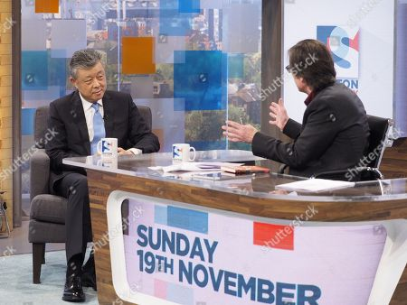 Chinese Ambassador to the UK Liu Xiaoming and Robert Peston