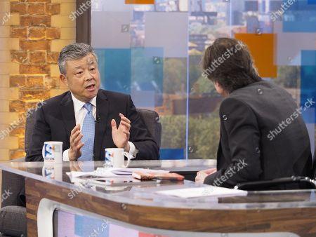 Chinese Ambassador to the UK Liu Xiaoming and Robert Peston