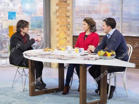 Stock Image of Robert Peston with Sarah Champion MP and Johnny Mercer MP