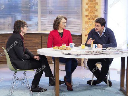 Robert Peston with Sarah Champion MP and Johnny Mercer MP