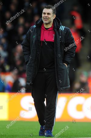 Nick Easter, Coach of Harlequins during the Aviva Premiership match between Exeter Chiefs and Harlequins at Sandy Park on November 19th 2017 , Exeter, Devon (