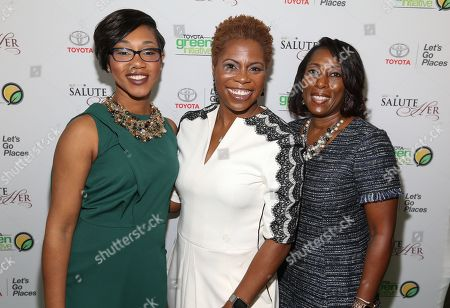 Jessica Taylor Toyota's Diversity & Inclusion Toyota Motor North America left, Trailblazer Award Honoree Jacqie McWilliams CIAA Commissioner and Adrienne Trimble General Manager Diversity & Inculsion at Toyota Motor North America