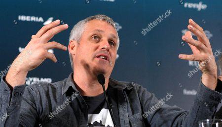 Spanish film director Marc Recha reacts during the presentation of his film 'La Vida Lliure' in a press conference during the Gijon International Film Festival (FICX), in Gijon, Asturias, Spain, 19 November 2017. The FICX festival will run from 17 to 25 November.