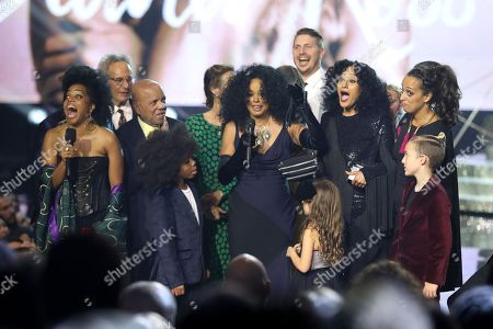 Rhonda Ross Kendrick, Berry Gordy, Diana Ross, Tracee Ellis Ross and family