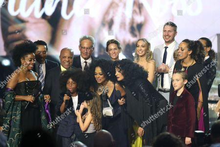 Stock Image of Rhonda Ross Kendrick, Berry Gordy, Diana Ross, Tracee Ellis Ross and family