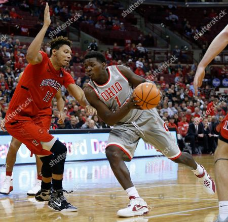 Jae'Sean Tate, Jeremy Miller. Ohio State's Jae'Sean Tate, right, drives the lane against Northeastern's Jeremy Miller during the second half of an NCAA college basketball game, in Columbus, Ohio