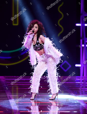 Stock Photo of Zhang Liangying performing