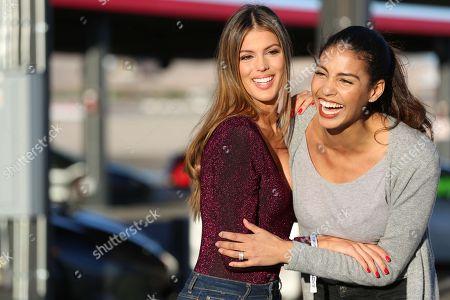 Iris Mittenaere Miss Univers 2016 and Chloe Mortaud Miss France 2009