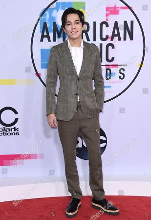 Dimash Kudaibergen arrives at the American Music Awards at the Microsoft Theater, in Los Angeles