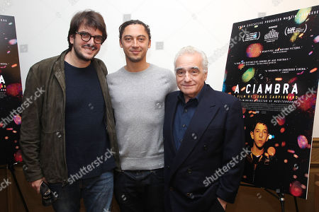 Rodrigo Teixeira, Jonas Carpignano (Director) and Martin Scorsese (Exec. Producer)
