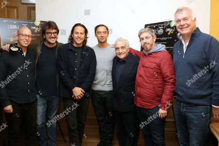 Cary Fukunaga, Jonas Carpignano (Director) and Martin Scorsese (Exec. Producer) with executives