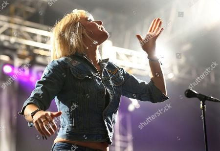 Maja Ivarsson from the band The Sounds performs during the Corona Capital music festival in Mexico City