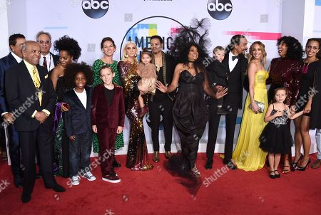 Rhonda Ross Kendrick, Raif-Henok Emmanuel Hendrick, Bronx Mowgli Wentz, xx, Ashlee Simpson, Jagger Snow Ross, Evan Ross, Diana Ross, Leif Naess, Ross Naess, Kimberly Ryan, Tracee Ellis Ross, Callaway Lane, Chudney Ross. Diana Ross, seventh from right, and her family arrive at the American Music Awards at the Microsoft Theater, in Los Angeles