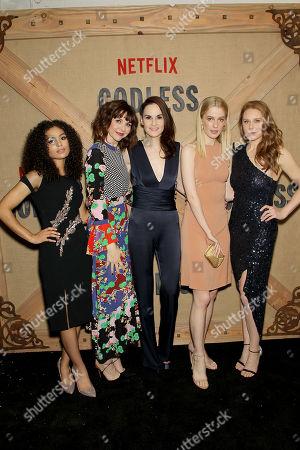 Stock Photo of Jessica Sula, Audrey Moore, Michelle Dockery, Tess Frazer, Christiane Seidel