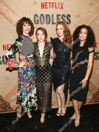 "Editorial photo of NY Premiere of ""Godless"", New York, USA - 19 Nov 2017"