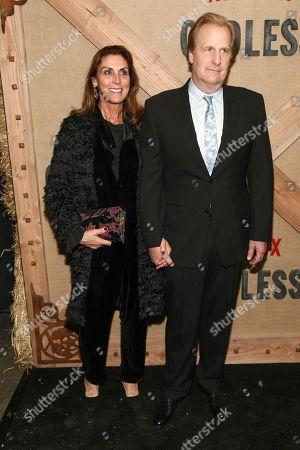 "Kathleen Rosemary Treado, Jeff Daniels. Kathleen Rosemary Treado, left, and Jeff Daniels, right, attend the premiere of Netflix's ""Godless"" at Metrograph, in New York"
