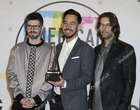 Brad Delson, Mike Shinoda and Rob Bourdon
