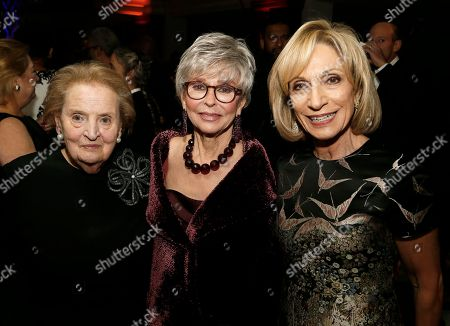 Rita Moreno, Madeleine K. Albright, Andrea Mitchell. Former Secretary of State Dr. Madeleine K. Albright, left, multi-award-winning actress Rita Moreno, center, and NBC News and MSNBC journalist Andrea Mitchell, right, attend The American Portrait Gala 2017 at Smithsonian's National Portrait Gallery on in Washington, D.C