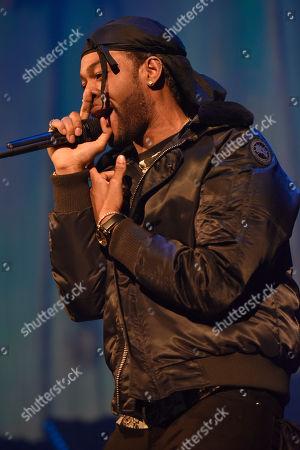 PartyNextDoor, Jahron Anthony Brathwaite, performs at the Allstate Arena, in Rosemont, IL