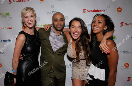 Lauren Lee Smith, Rainbow Sun Franks, Tamara Duarte, Mishael Morgan attend the 2013 Producers Ball, at the Royal Ontario Museum, on Wednesday, September 4th, 2013 in Toronto, Canada