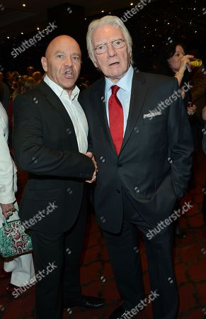 Alan Ford, left, and Dominic Littlewood seen at the after party for The Card Shark Show at the Mayfair Hotel, in London