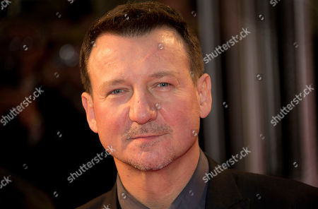 Polish actor Robert Wieckiewicz arrives for the screening of his film, Walesa: Man Of Hope, arrives for the screening, as part of the 57th BFI London Film Festival, at a central London cinema