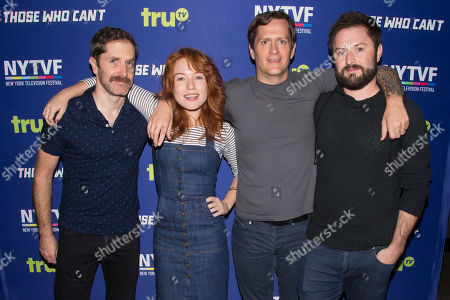 "Andrew Orvedahl, Maria Thayer, Ben Roy and Adam Cayton-Holland attends the 11th Annual New York Television Festival screening and panel of truTV's original comedy series ""Those Who Can't"", at the SVA Theatre, in New York"