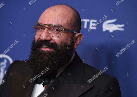 Paco Delgado arrives at the 18th annual Costume Designers Guild Awards at the Beverly Hilton hotel, in Beverly Hills, Calif