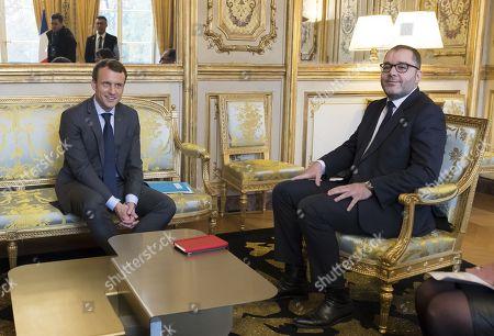 Emmanuel Macron and Rachid Temal