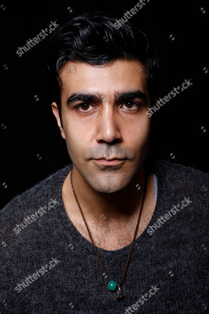 """Stock Photo of Actor Bobby Naderi poses for a portrait to promote the film, """"Under the Shadow"""", at the Toyota Mirai Music Lodge during the Sundance Film Festival on in Park City, Utah"""