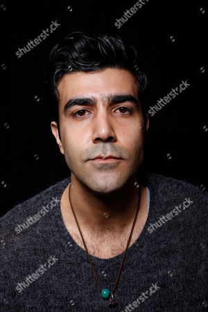 """Actor Bobby Naderi poses for a portrait to promote the film, """"Under the Shadow"""", at the Toyota Mirai Music Lodge during the Sundance Film Festival on in Park City, Utah"""
